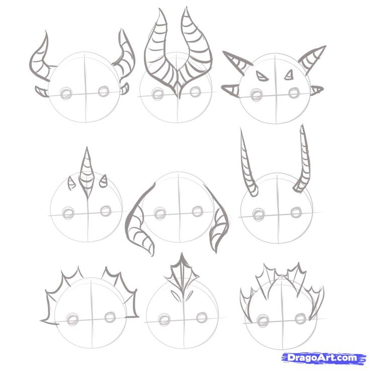dragon draw drawing easy dragons step drawings horns reference dragoart chinese placement fins horn steps anime cool sketches 3d tutorials
