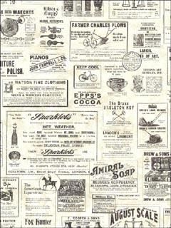 ADAMSTOWN CREAM VINTAGE NEWSPAPER - Wallpaper   This is our new bathroom wallpaper !!  :-)