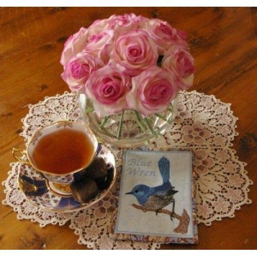 In the Hoop Blue wren Mug rug for the 5 x 7 inch hoop