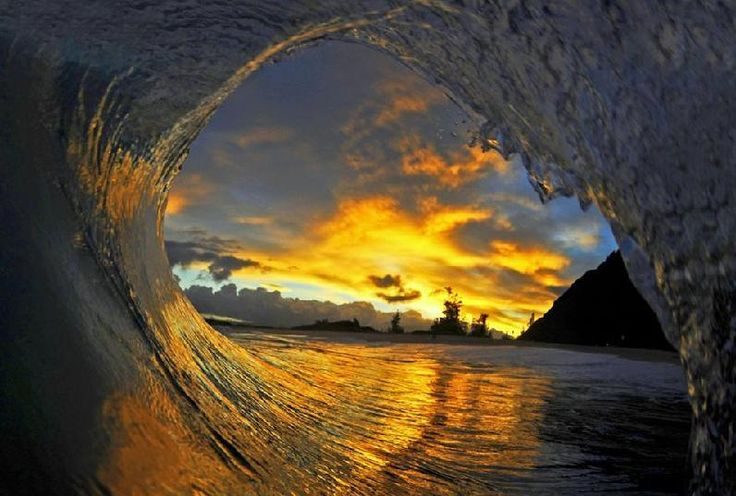 Sunset With Sea Wave Tap To See More Breathtaking Beach: 25 Best Peter Pan Lighting & Projections Images On