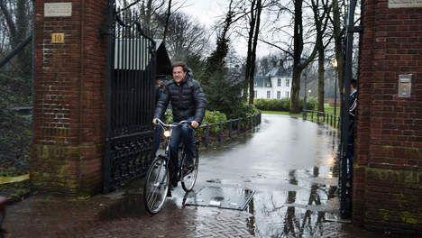 Mark Rutte fiets Campagne beeld leider