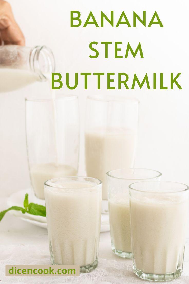 Banana Stem Buttermilk Summer Drink Dice N Cook Recipe In 2020 Summer Drinks Banana Healthy Banana Benefits