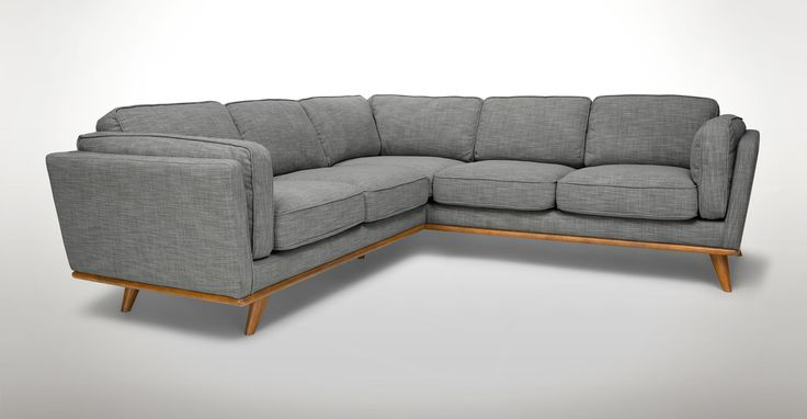 Timber Pebble Gray Corner Sectional - Sectionals - Article | Modern, Mid-Century and Scandinavian Furniture