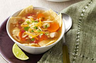 Slow-Cooker Chicken Tortilla Soup recipe - I think putting black beans instead of carrots will be yummy