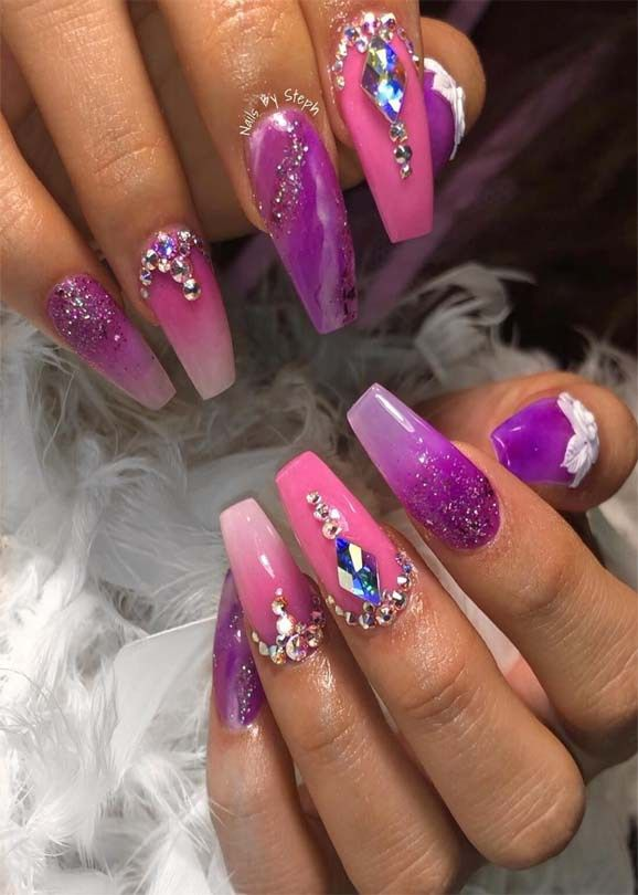 Stunning Pink Ombre Nail Art Designs for Ladies in 2019