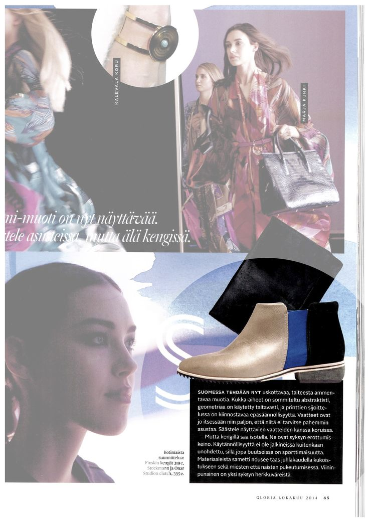 FINSK shoe 479-01 in grey featured at GLORIA Magazine October issue in 2014.   For more details, click here: http://www.martavaltovirta.com/portfolio/gloria-october-2014-2/