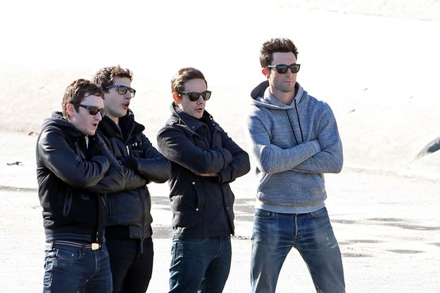 It's probably no coincidence that Andy, Jorma, Akiva, and Adam Levine were seen filming a music video in Los Angeles on Friday just one week before Levine hosts Saturday Night Live on the 26th. Here's hoping it will be the first of many returns of the segment to the show!