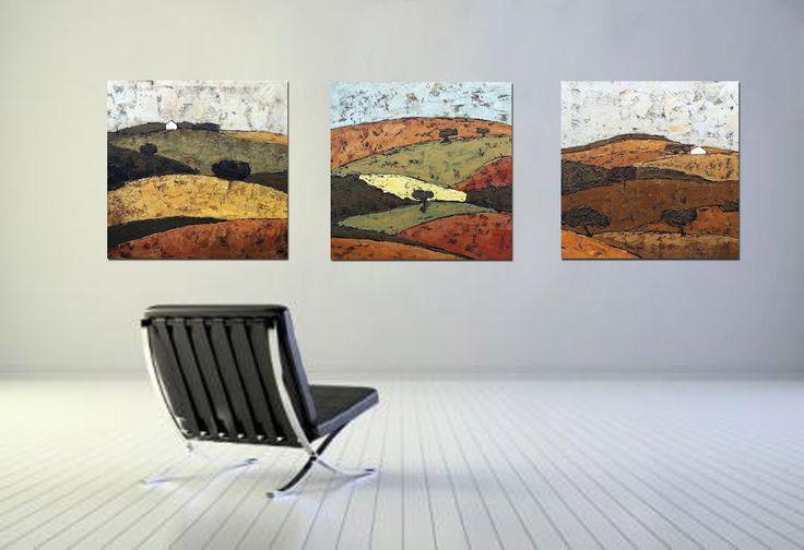 Pinturas modernas pintadas con pinturas acr licas en - Pinturas acrilicas modernas ...