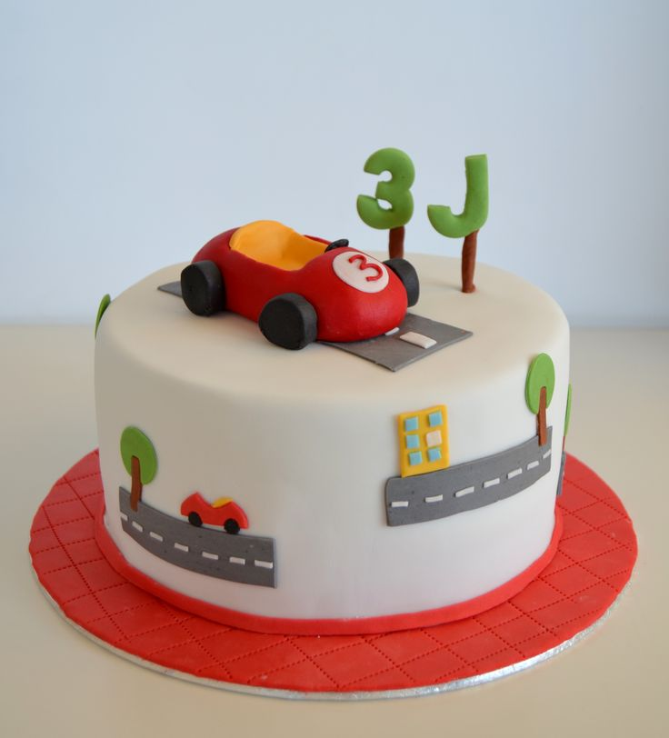 tarta coche rojo