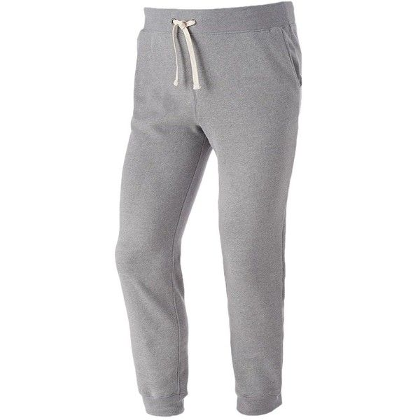 Big & Tall Urban Pipeline® Fleece Jogger Sweatpants ($28) ❤ liked on Polyvore featuring men's fashion, men's clothing, men's activewear, men's activewear pants and med grey