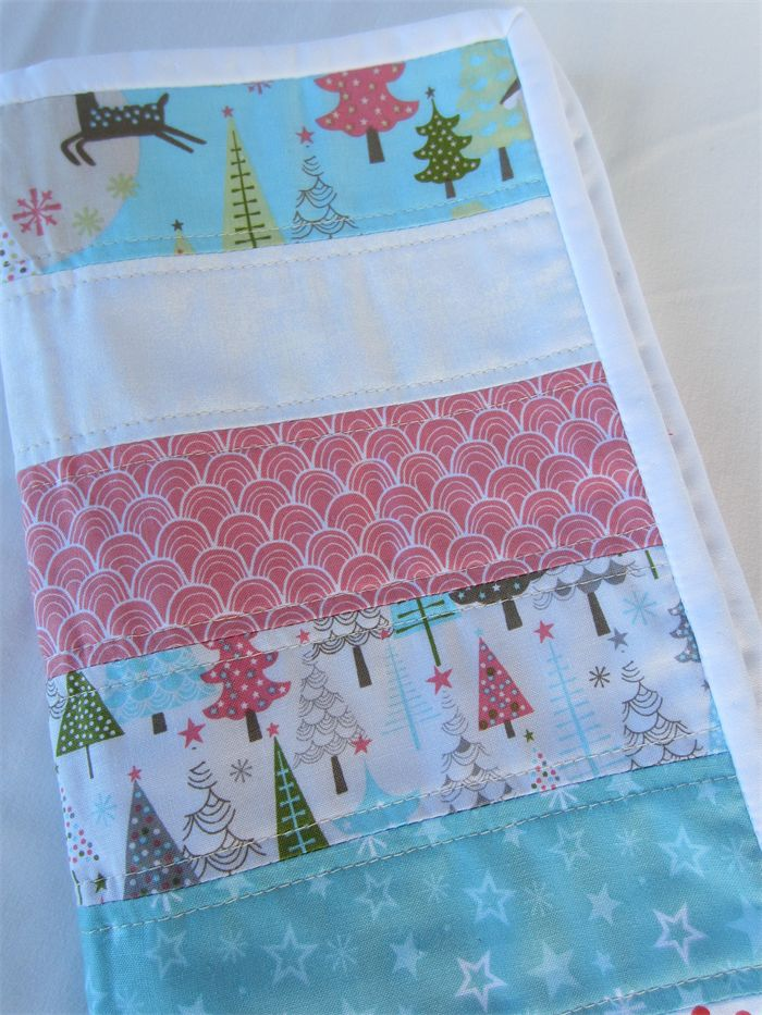 Christmas Table Runner - Soft Pastel Colours - Snowmen, Stars, Trees, Reindeers | by LittleStarrs |