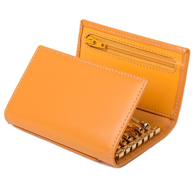 Bridle Hide London Tan 6 Hook Key Case / Bridle Hide 6-Hook Key Case / For Her / Leather Accessories / Home - Ettinger London e-shop - Luxury Leather Wallets made in England