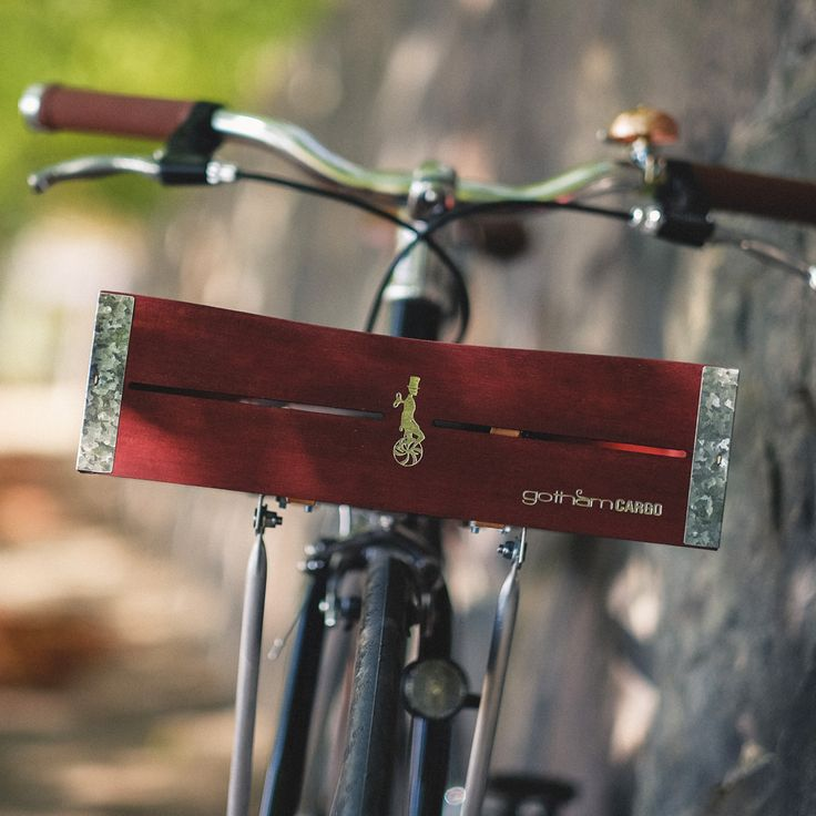 wooden bicycle basket mahogany by gothamcargo