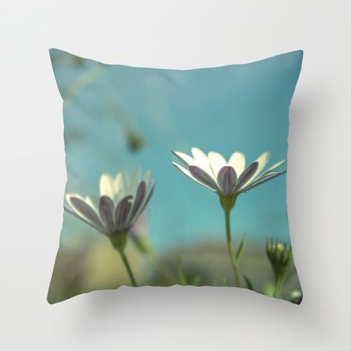Daisy Days Throw Pillow by Ia Loredana   Society6   #Pillow #AreaPillow #ThrowPillow #artprint #print #natureprint #floralprint #colorprint #photographyprint #outdoordecor #indoordecor