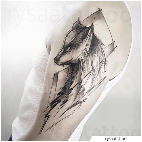 tattoo lupo sketching   Tatuaggi vita, Tatuaggi, Tatuaggio ...