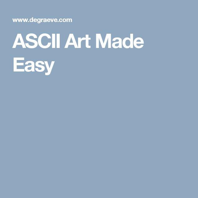 Simple Ascii Art One Line : Best ascii art ideas on pinterest line