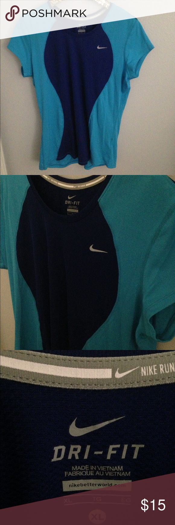 Blue dri-fit Nike top XL Great condition Nike Tops Tees - Short Sleeve
