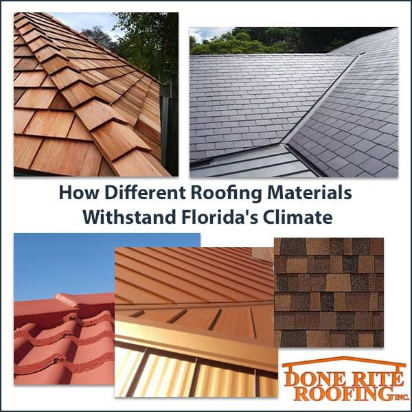 Best Type Of Shingles For Florida Roofs In 2020 Best Roof Shingles Roof Types Roofing Materials