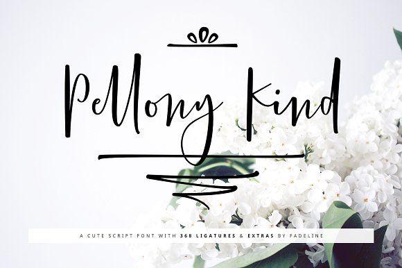 Pellony Kind Cute Script by FadeLine on @creativemarket
