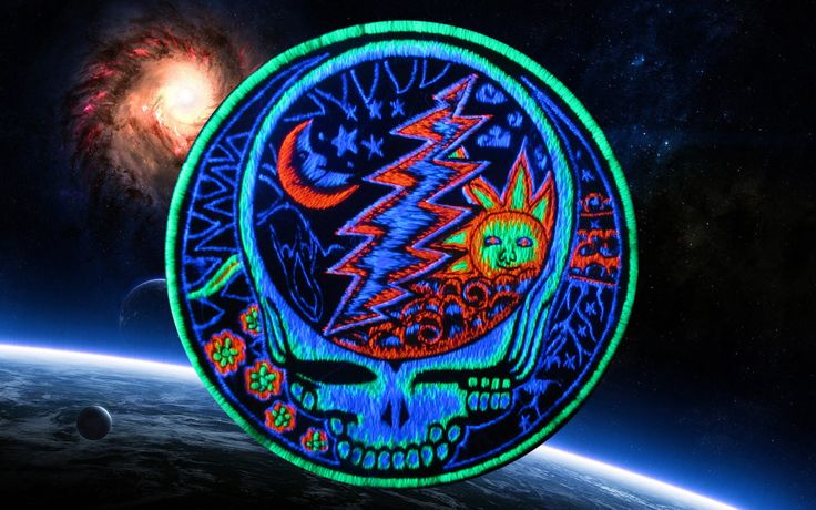 Grateful Dead Patch psy patch LSD psychedelic sun by ImZauberwald