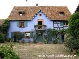 Blue House: Houses Colors, Cozy Cottages, Blue Shutters, Country Cottages, Blue Houses, Colors Houses, Dark Blue, Blue Cottages, Fairies Tales