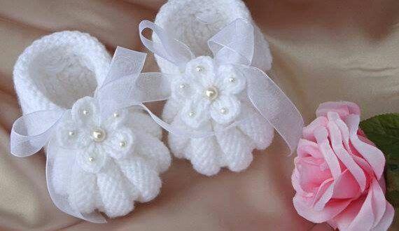 Karpuz Dilimli Çiçek İnci Kurdele Süslemeli Bebek Patiği. 1 yaş içindir » By hatice2
