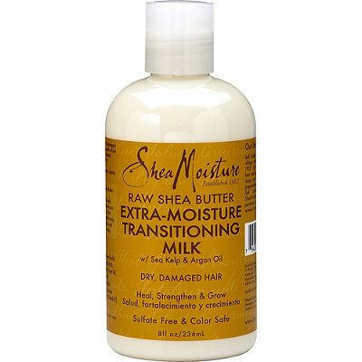 #SheaMoisture #RawSheaButter Extra-Moisture #Transitioning Milk for dry, damaged hair strengthens as it promotes healthy growth while transitioning chemically treated hair to #natural healthy hair.