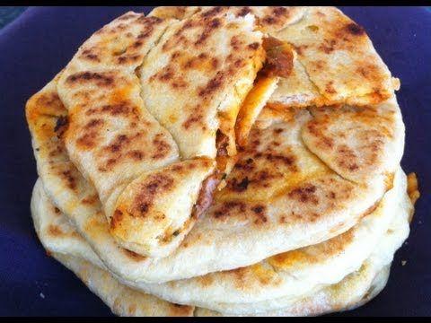 MTABGA - gefülltes Pfannenbrot / orientalisch tunesisch kochen lernen / cuisine tunisienne orientale - YouTube