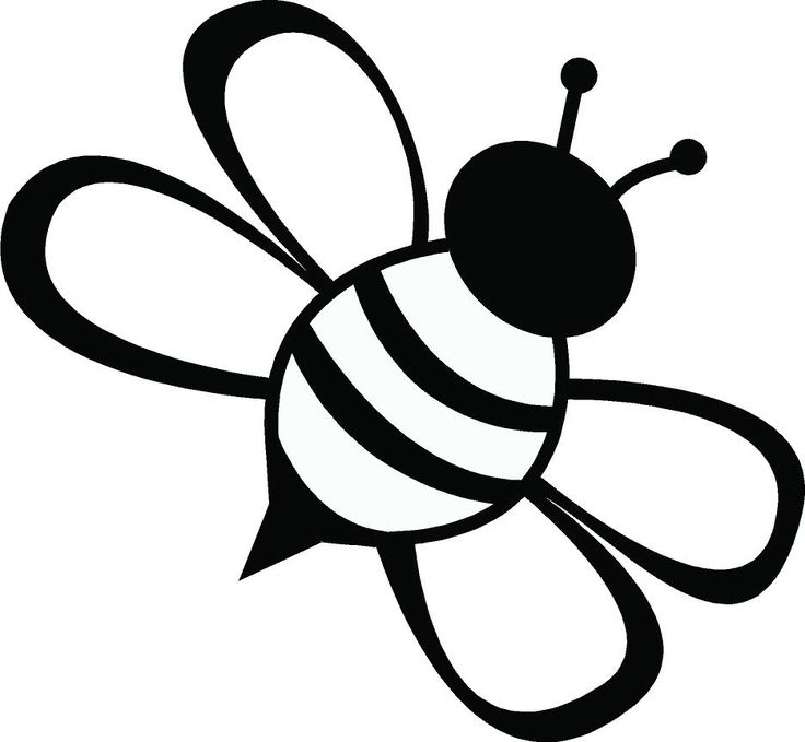 Line Drawing Simple Bee - ClipArt Best - Cliparts.co