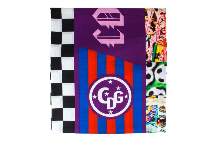 A nod to the favorite cool weather accessory of football hooligans across the globe, COMME des GARCONS has crafted a Patchwork Soccer Flags...