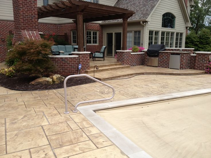 Stamped Concrete Kitchens : Best images about our resort backyard on pinterest