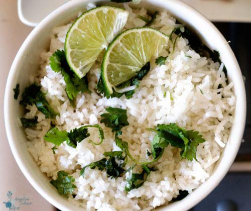 Cilantro Lime Rice...make it brown, yum!