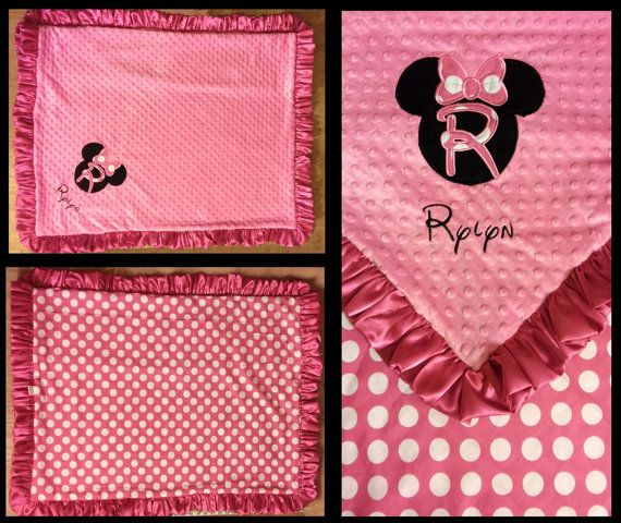 Minnie Mouse Minky Blanket by FourLoves on Etsy