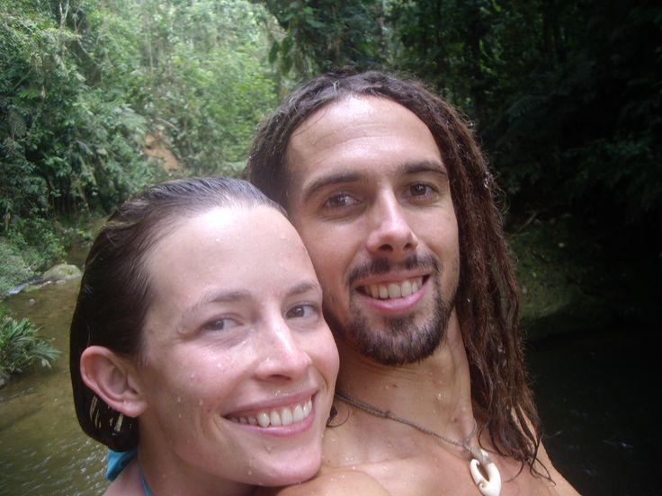After a refreshing dip in Columbia.  Hear Hap and Mandy's story of travel, adventure, heartbreak and love at www.lovinginlimbo.com