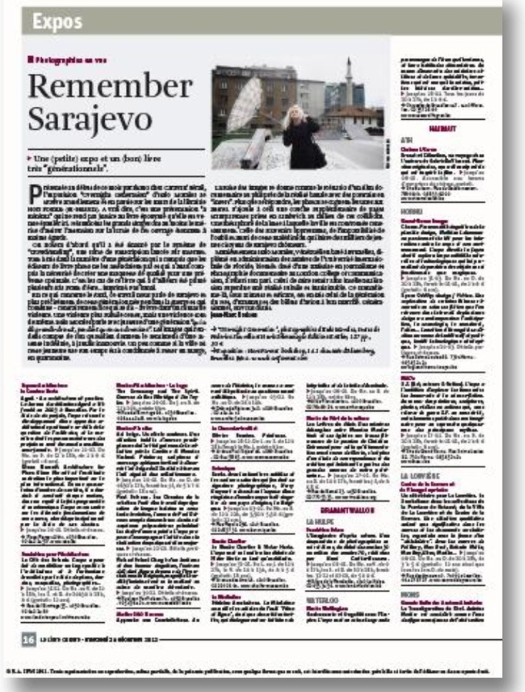 Article on Overnight Generation on La Libre Belgique newspaper