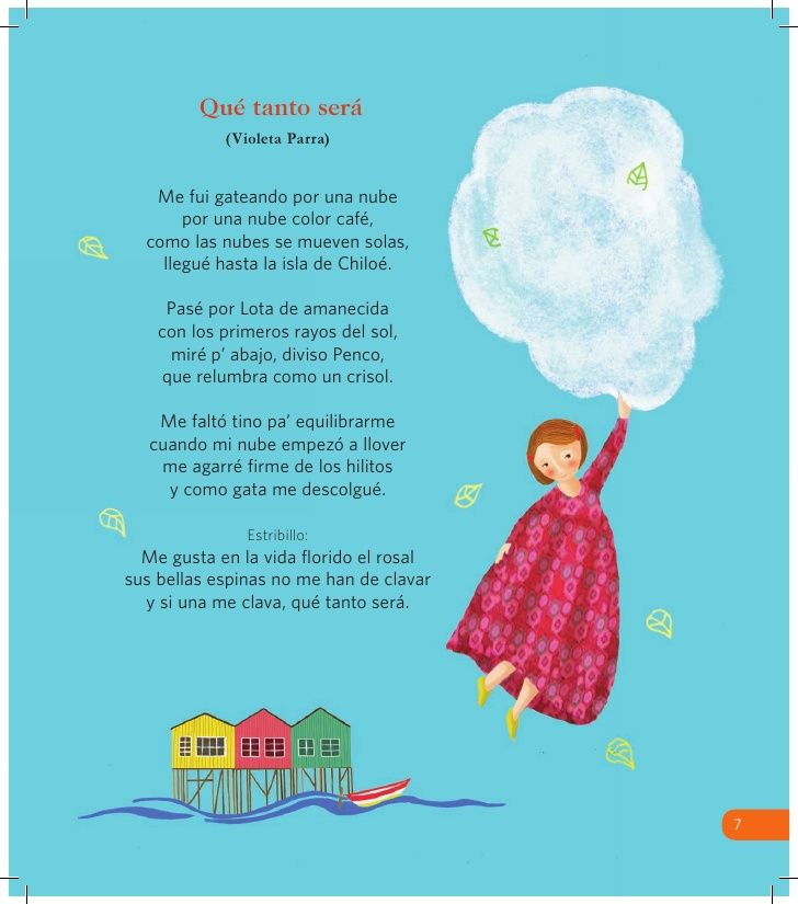 """"""" Qué tanto será """" de Violeta Parra.  / Ilustración de Cecilia Gandolfo."""