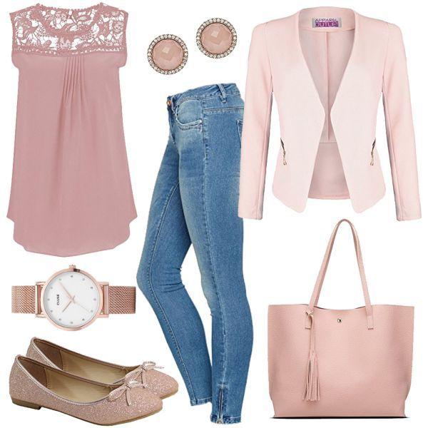 Rosa Damen Outfit – Komplettes Frühlings-Outfit günstig kaufen | FrauenOutfits…