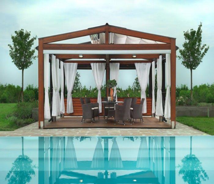 patio pergola for swimming pool