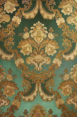 Vinyl Tapete Barock Retro # grün/gold # Fujia Decoration # 22832                                                                                                                                                                                 Mehr