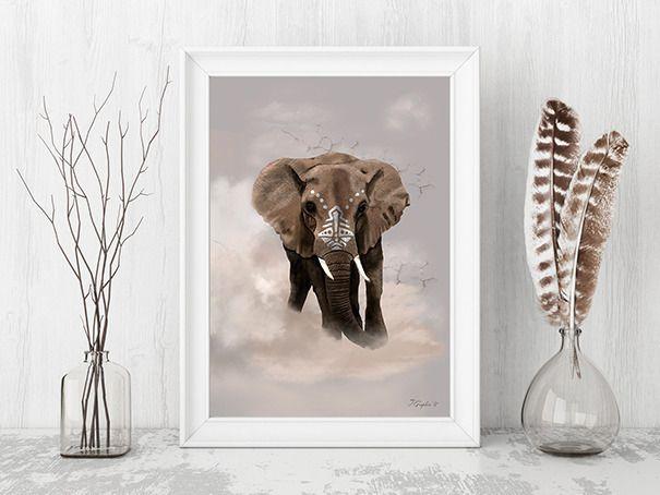 Les 25 meilleures id es concernant d corations d 39 l phant for Decoration murale elephant