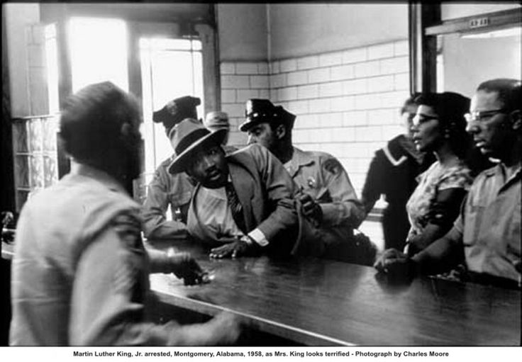 In 1958, policemen arrested Martin Luther King Jr. in Montgomery, Alabama. There he penned Letter from Birmingham Jail.