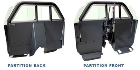 Setina Police Partition Cage With Recessed Panel For Cars