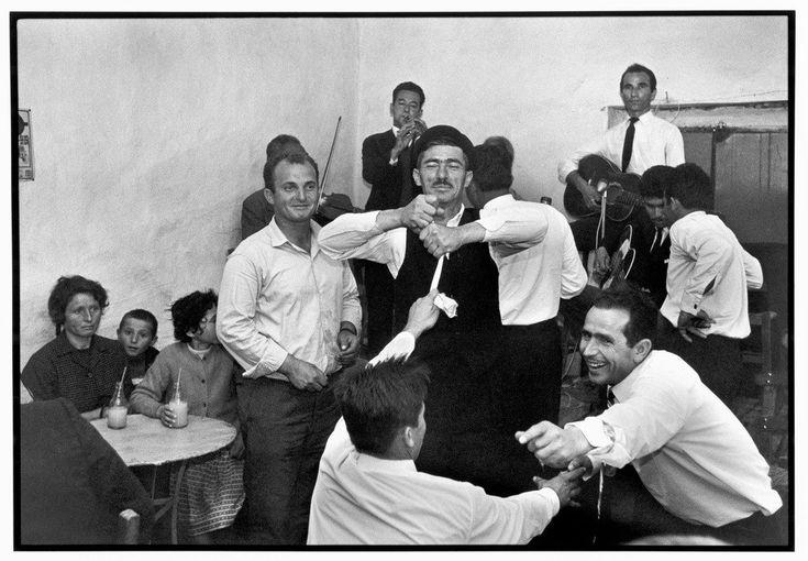 Constantine Manos.  Mykonos. 1967. Dancing in a cafe.
