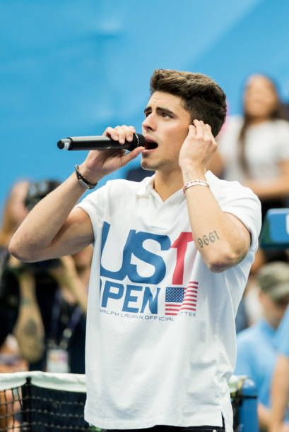Jack Gilinsky of Jack Jack perform during performs on stage during the 22nd Annual Arthur Ashe Kids' Day at USTA Billie Jean King National Tennis...