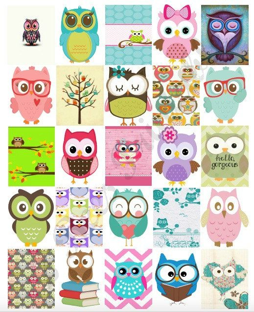 Printable Owl Box stickers for Erin Condren Life Planner. These super cute stickers are made to fit the weekly boxes of the Erin Condren