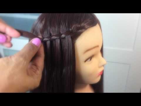 Peinados para niñas con ligas terminado en trenza / Abi Vargas - YouTube