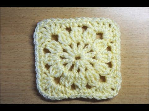 四角モチーフ4 かぎ編みの基本 How to Crochet Square Motif - YouTube