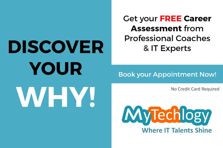 Align your IT career with your Career Goals. Get your free one-to-one session with a professional coach. Book your session today!