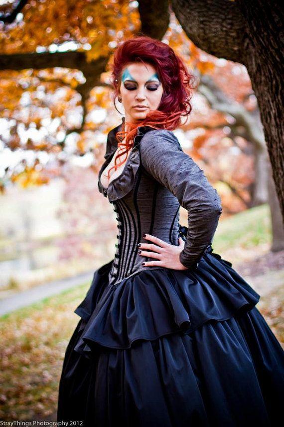 Alternative Wedding Gown Steampunk Corset Jacket by KMKDesignsllc, $1095.00