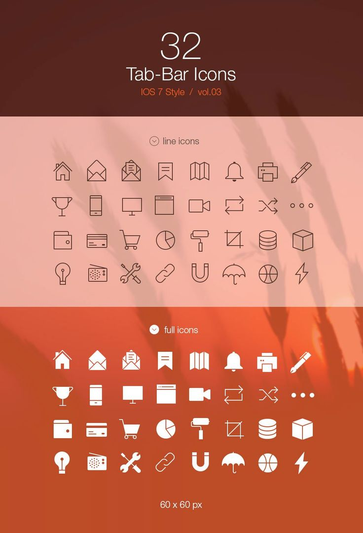 Good example of icons over a blurred background
